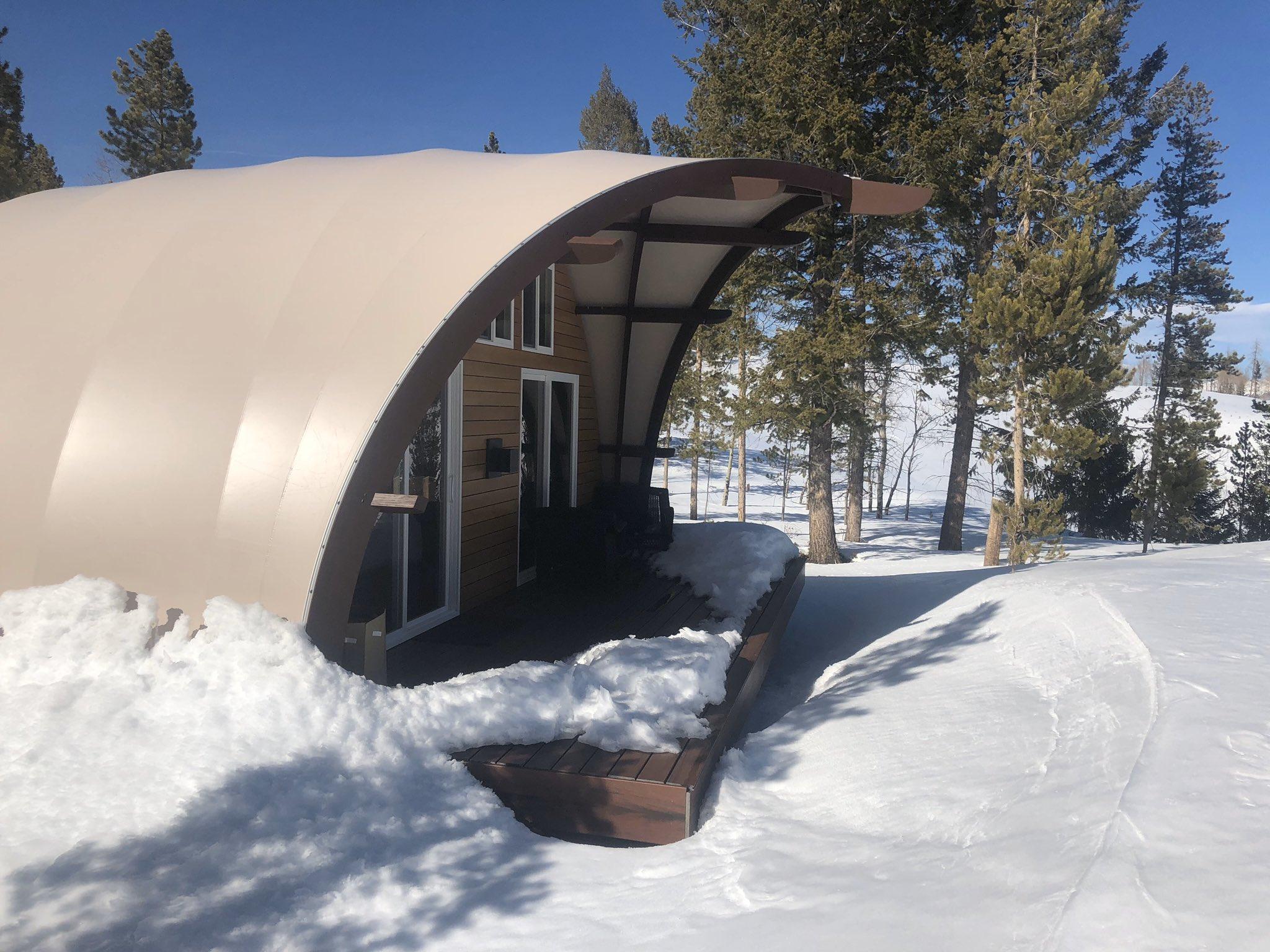 贝壳形状帐篷酒店