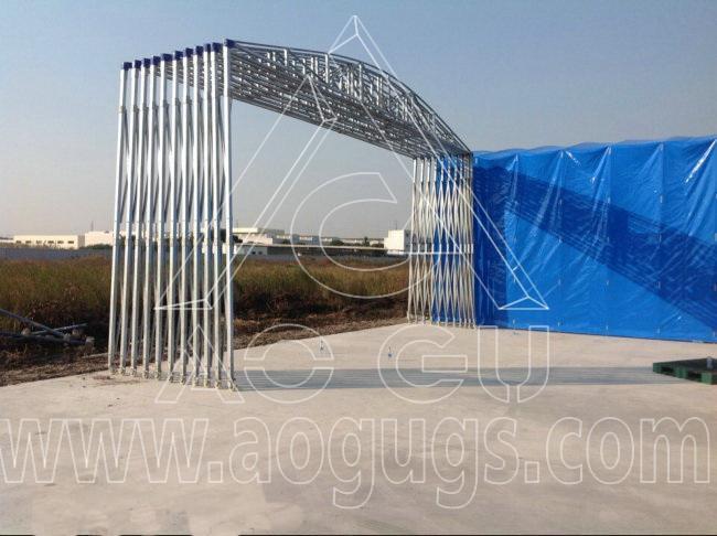 中粮集团移动式仓储活动推拉篷产品演示图2
