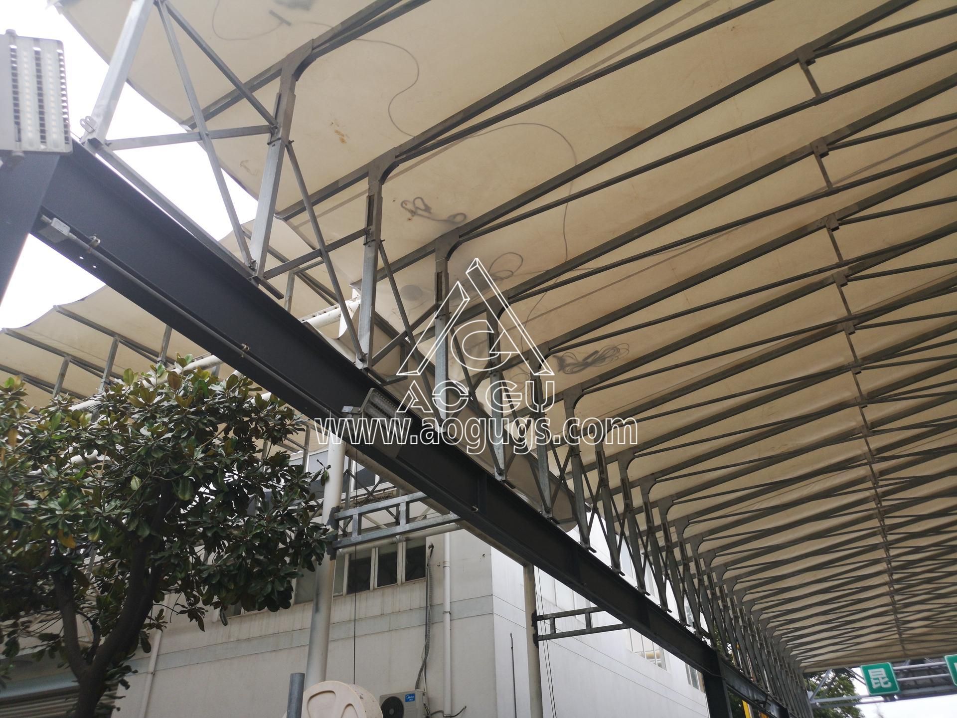 装货区 卸货区伸缩开合式篷房 艾利中国昆山公司 产品演示图2