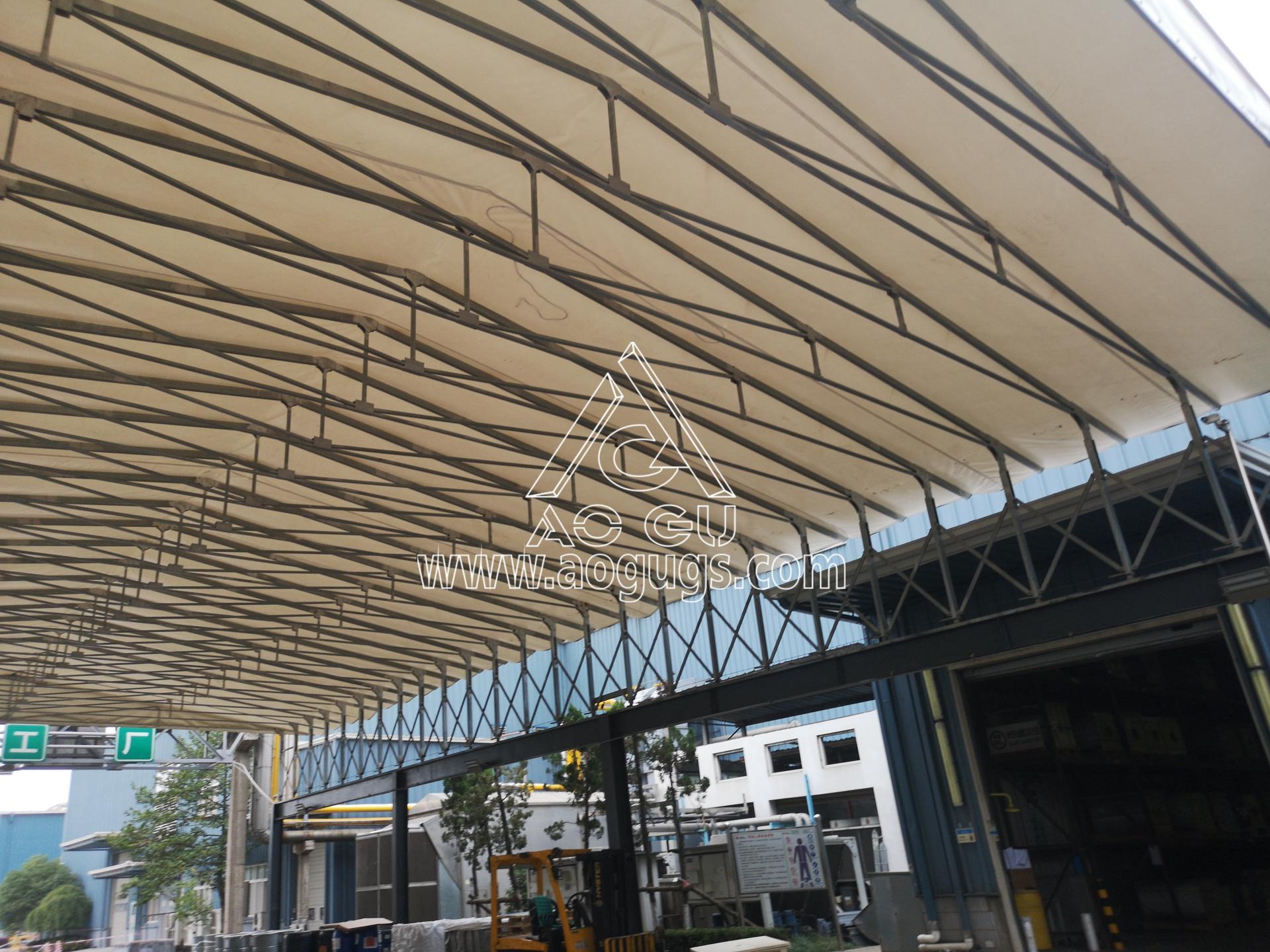 装货区 卸货区伸缩开合式篷房 艾利中国昆山公司 产品演示图3