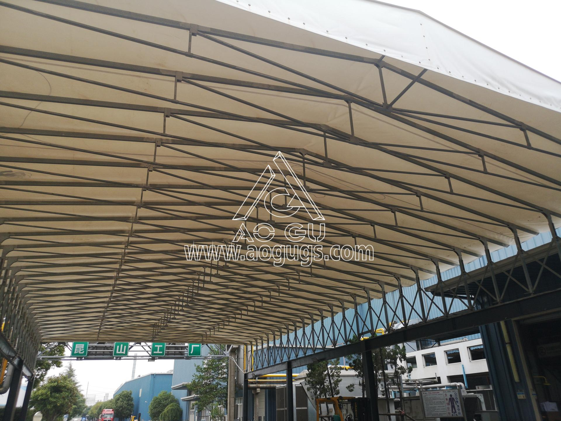 装货区 卸货区伸缩开合式篷房 艾利中国昆山公司 产品演示图4