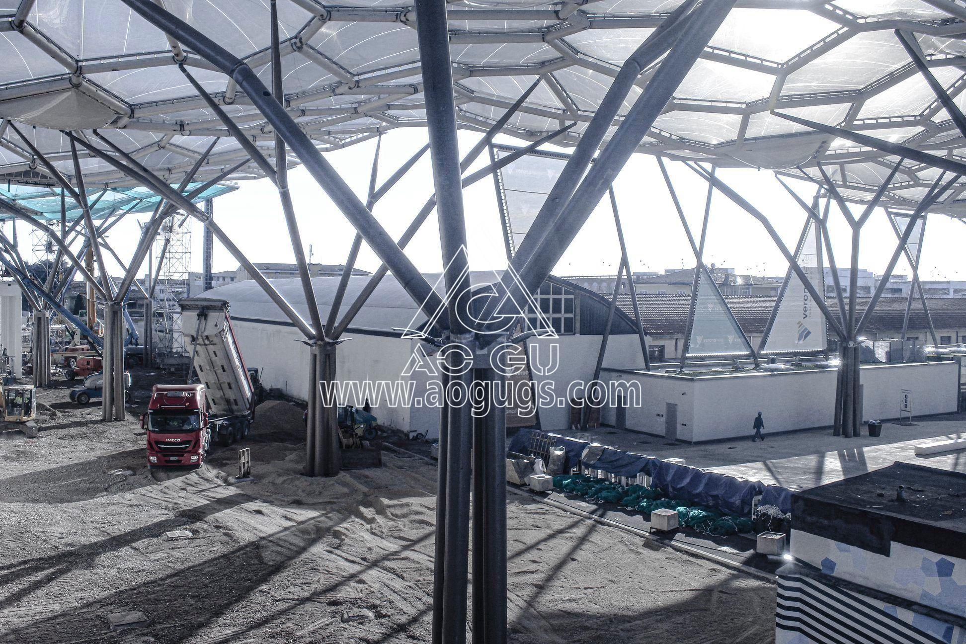 ETFE透明膜 ETFE膜工程 ETFE膜材料制作 充气膜 气枕 产品演示图2