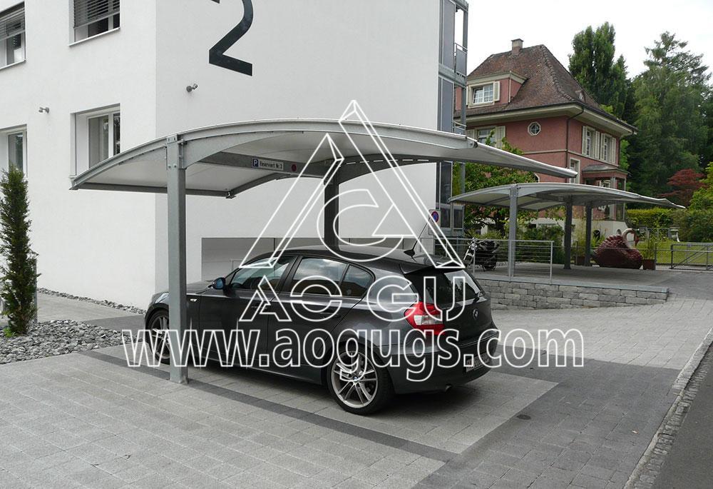 组装式车棚停车棚工程案例
