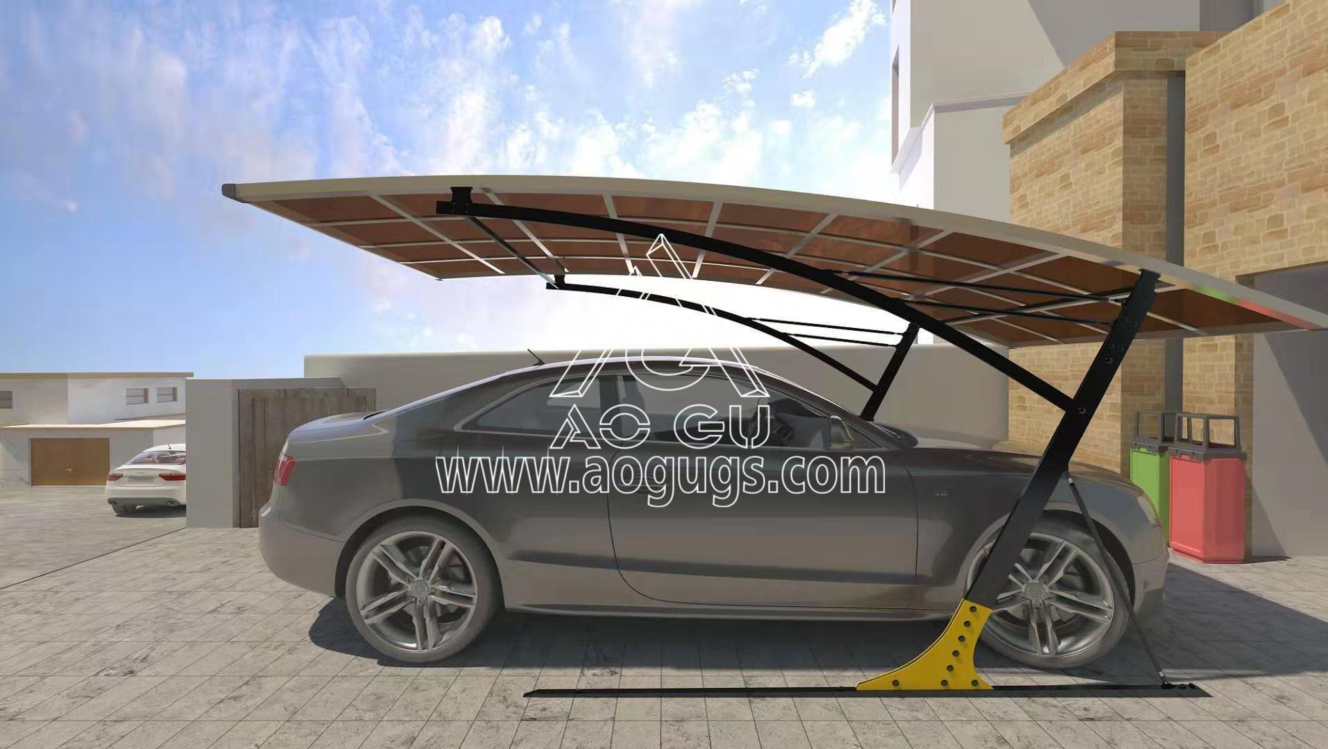 装配式车棚停车棚结构产品演示图4