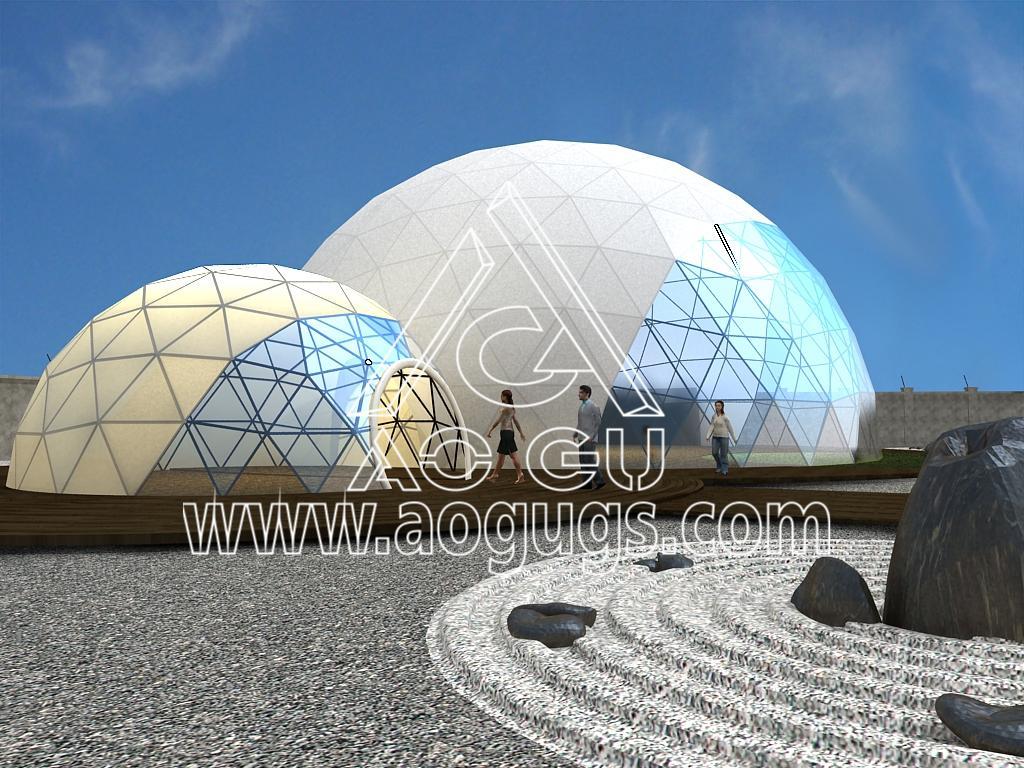 大型展会展销球形帐篷  球形测地线帐篷