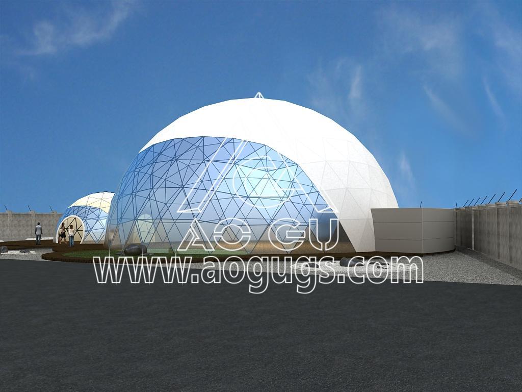 大型展会展销球形帐篷  球形测地线帐篷 产品演示图2