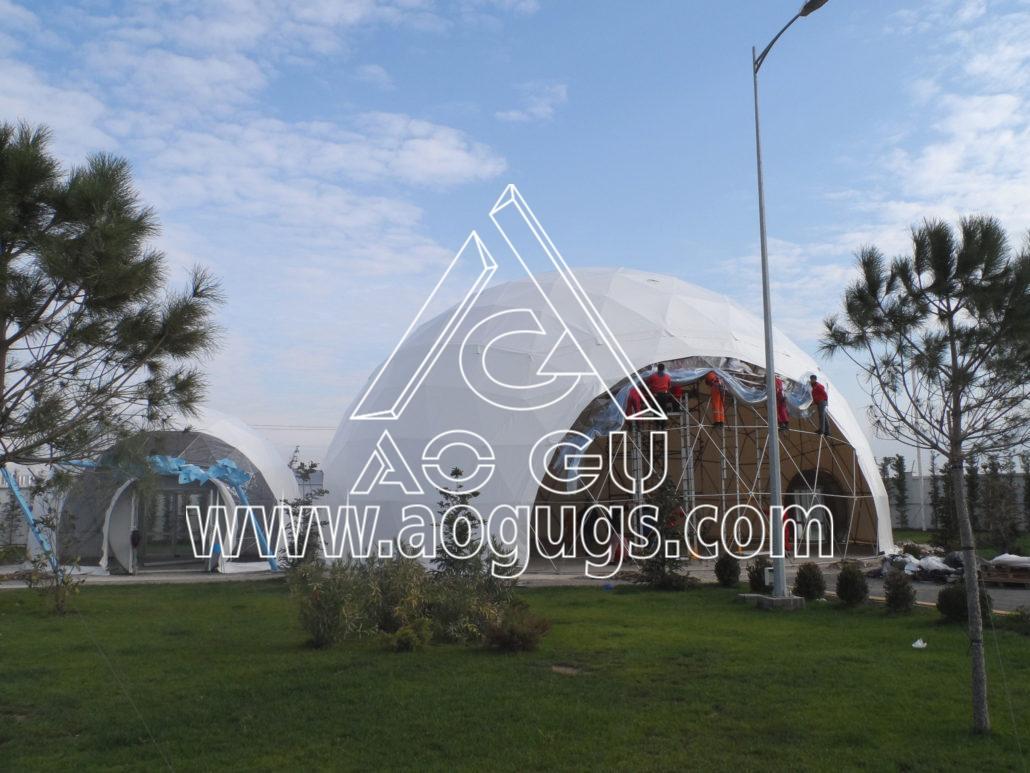 大型展会展销球形帐篷  球形测地线帐篷 产品演示图3