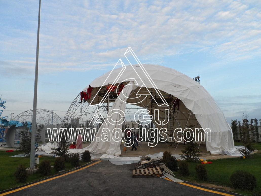 大型展会展销球形帐篷  球形测地线帐篷 产品演示图4