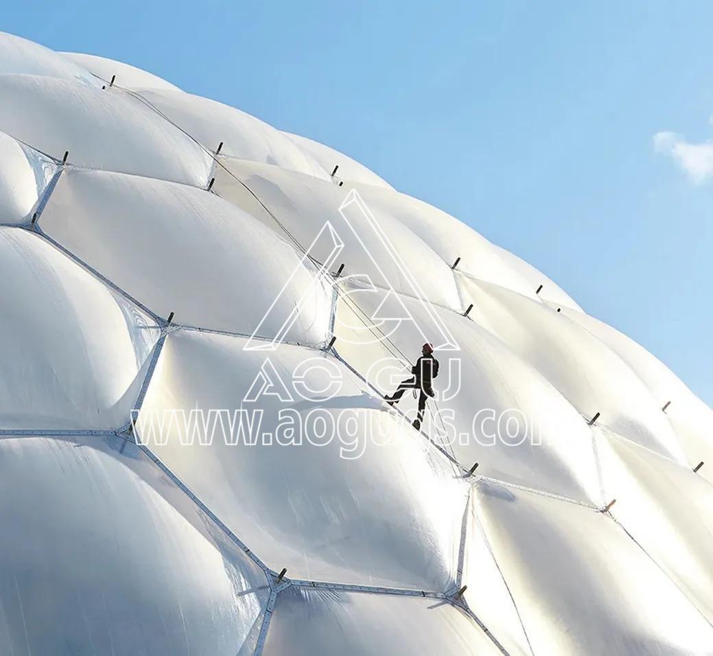 ETFE透明膜 ETFE膜工程 ETFE膜材料制作 充气膜 气枕 产品演示图4