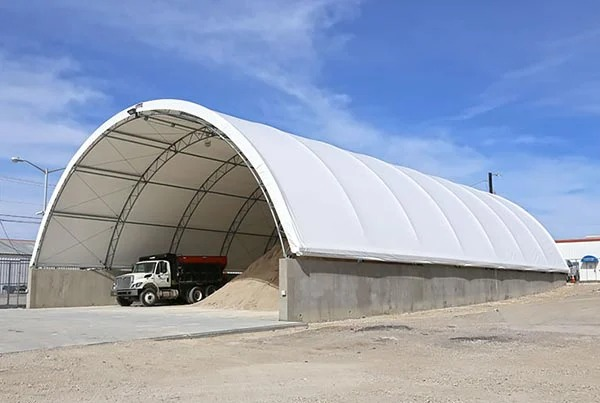 水泥厂矿山堆场仓储仓库大型雨篷
