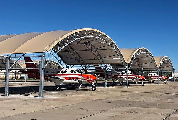 大跨度机库篷房 大型机库雨篷产品演示图1