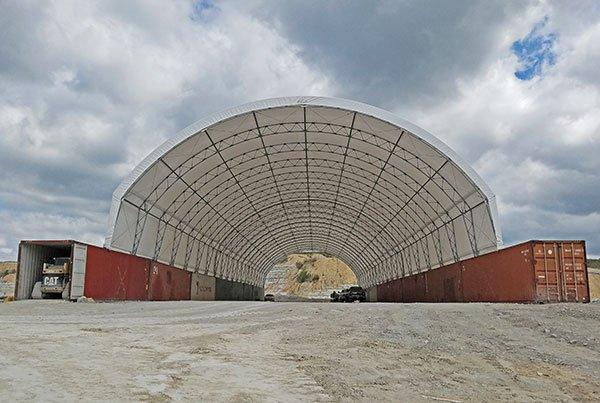 大跨度机库篷房 大型机库雨篷产品演示图4