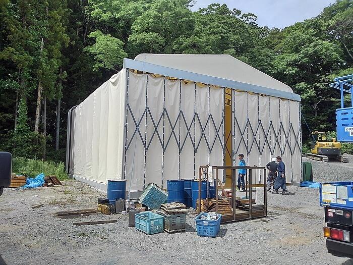 伸缩活动仓库仓储雨篷帐篷产品演示图2