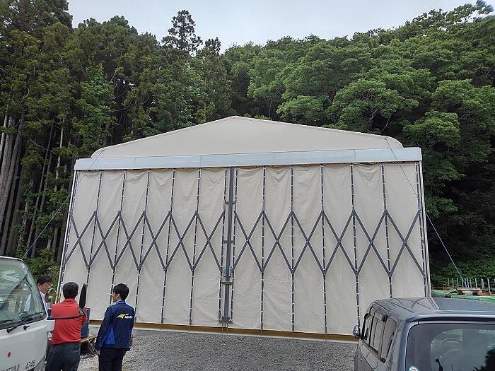 伸缩活动仓库仓储雨篷帐篷产品演示图4