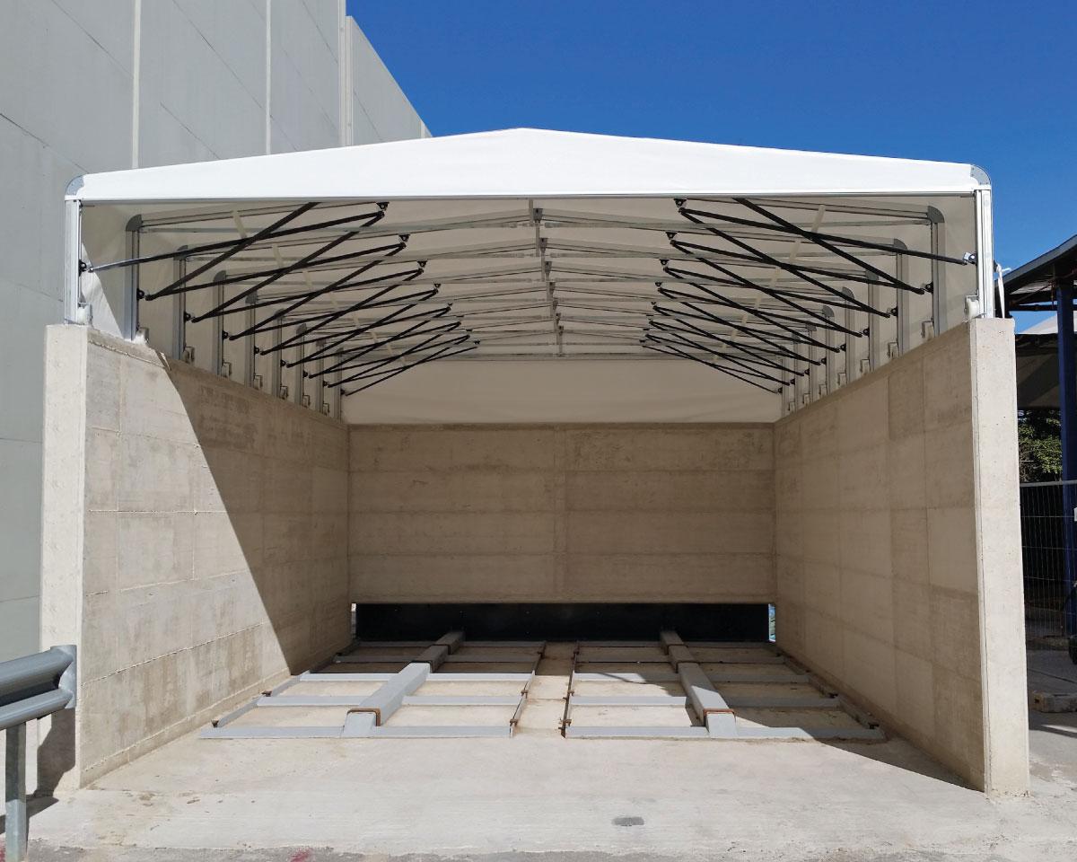 电动伸缩推拉篷 架空屋顶 悬空伸缩活动式雨篷