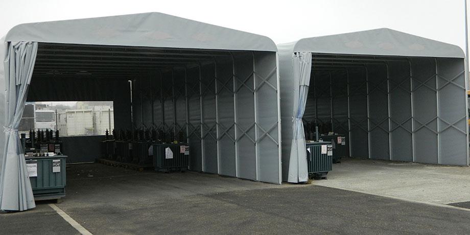 伸缩推拉雨棚  活动仓储雨棚产品演示图3