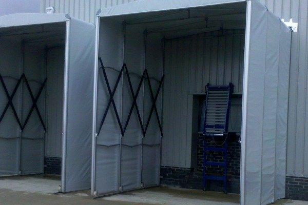 伸缩推拉雨棚  活动仓储雨棚