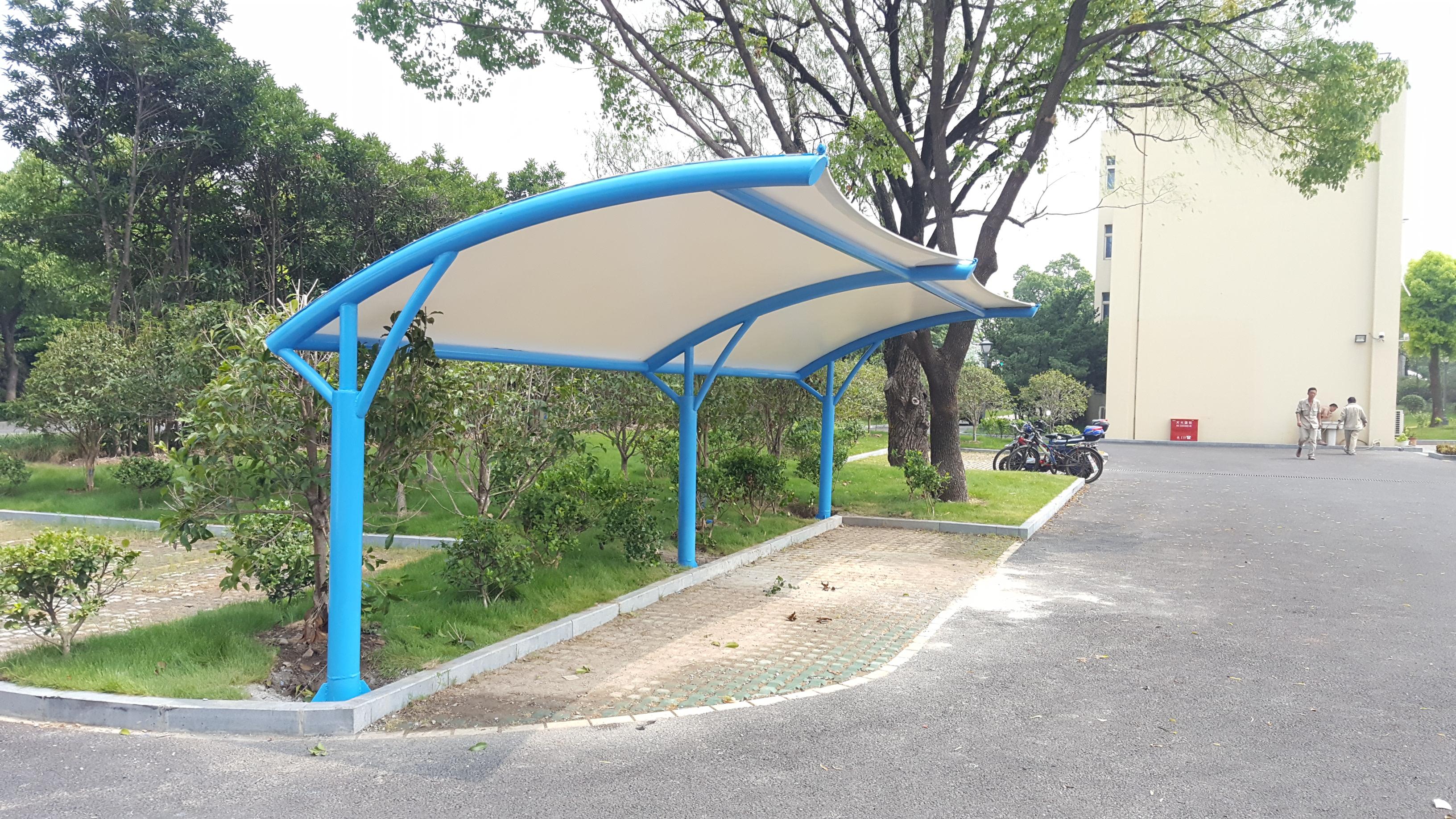 宝钢安保部 自行车棚 自行车停车棚产品演示图3