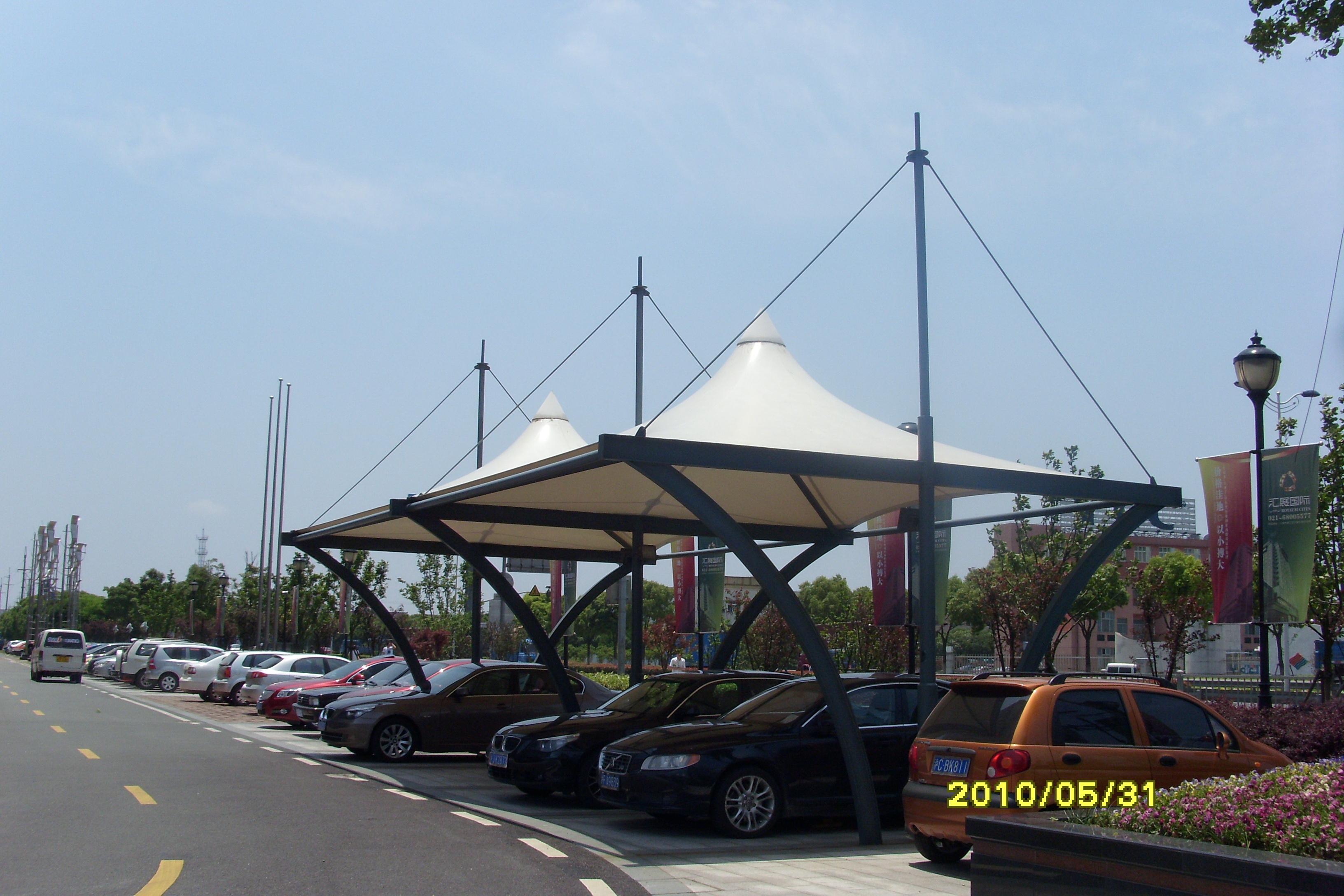 东龙拉链 膜结构车棚 膜结构停车棚产品演示图2