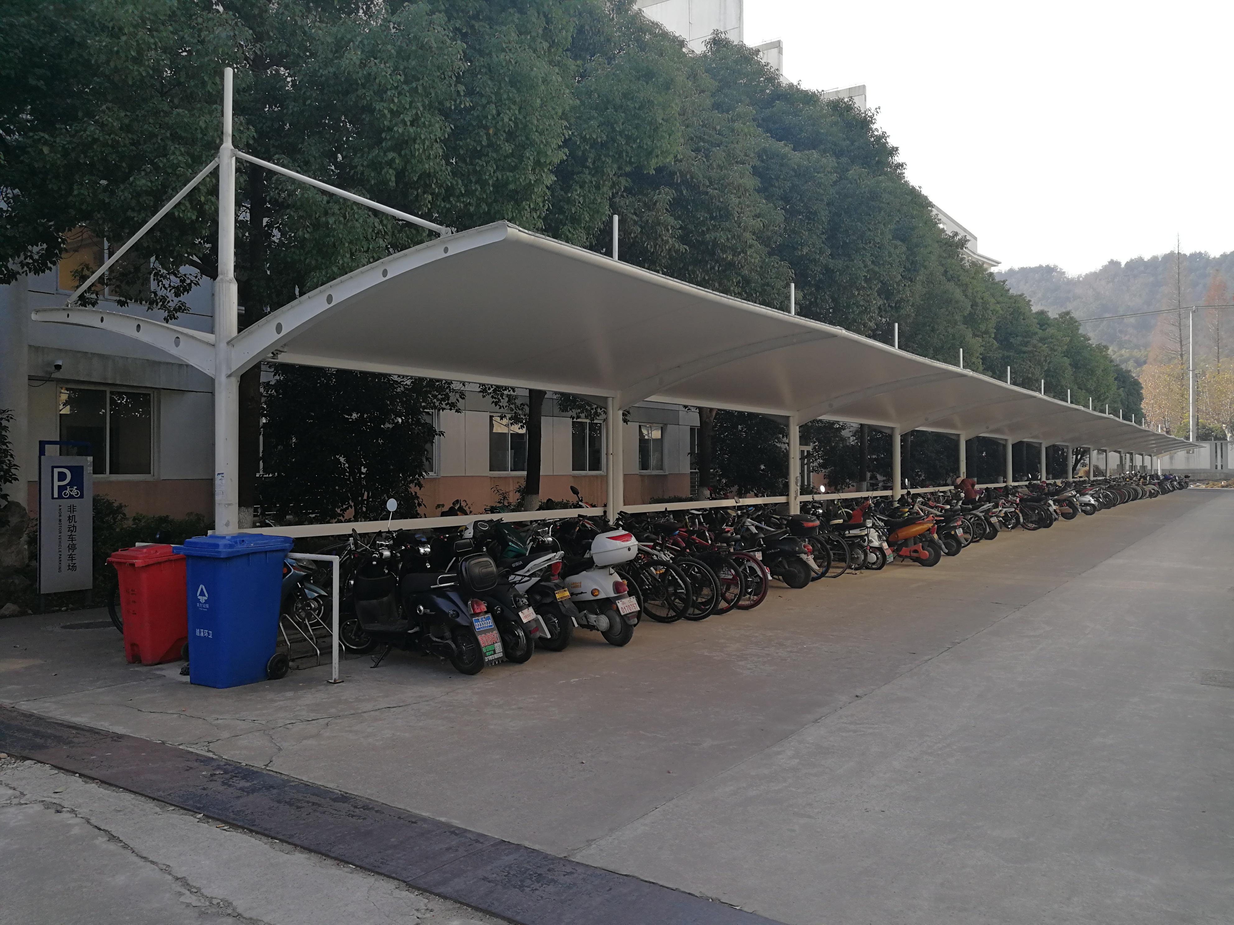 苏州工业学院 自行车棚 自行车停车棚产品演示图3