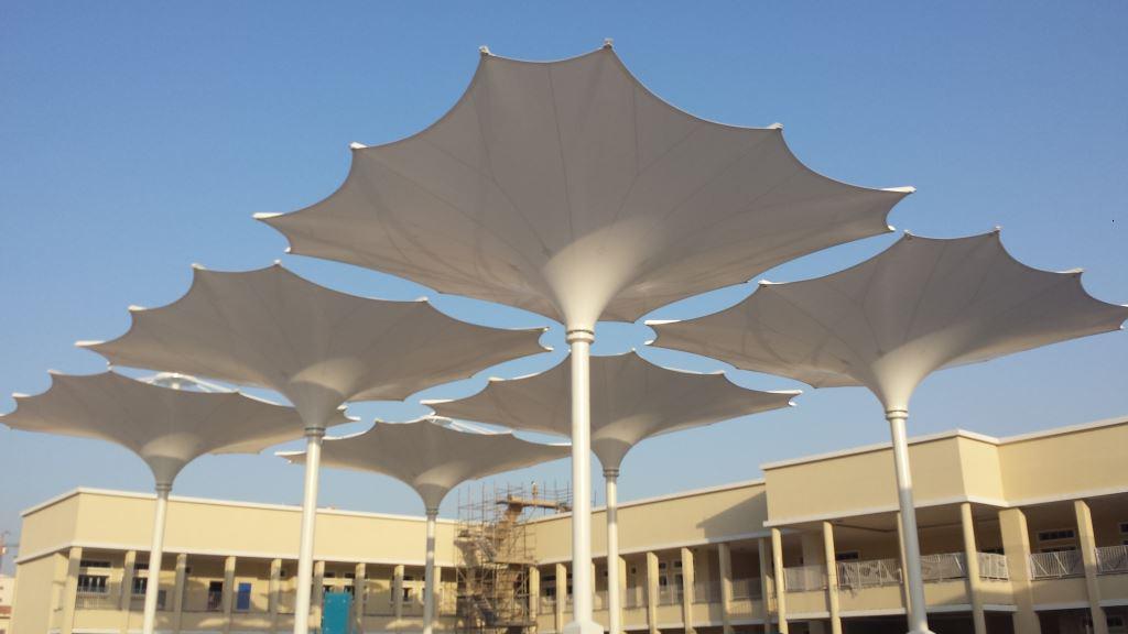 可伸缩的膜建筑景观结构大伞