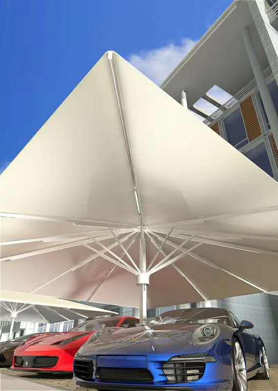 大型遮阳伞 大型抗风伞产品演示图2