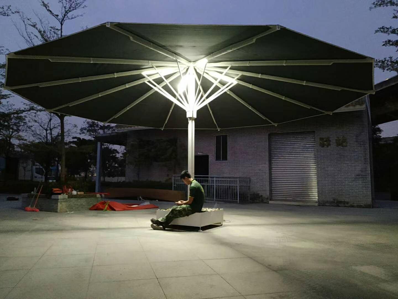 大型遮阳伞 大型抗风伞产品演示图4