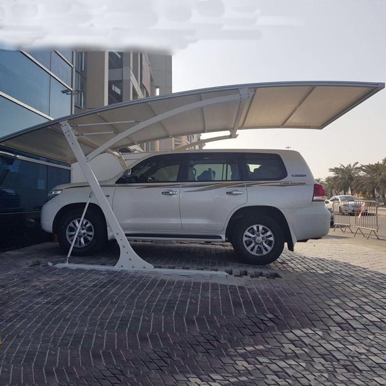 装配式膜结构汽车停车棚