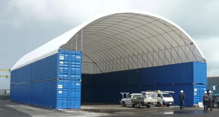 集装箱组装式雨棚 集装箱顶棚雨棚