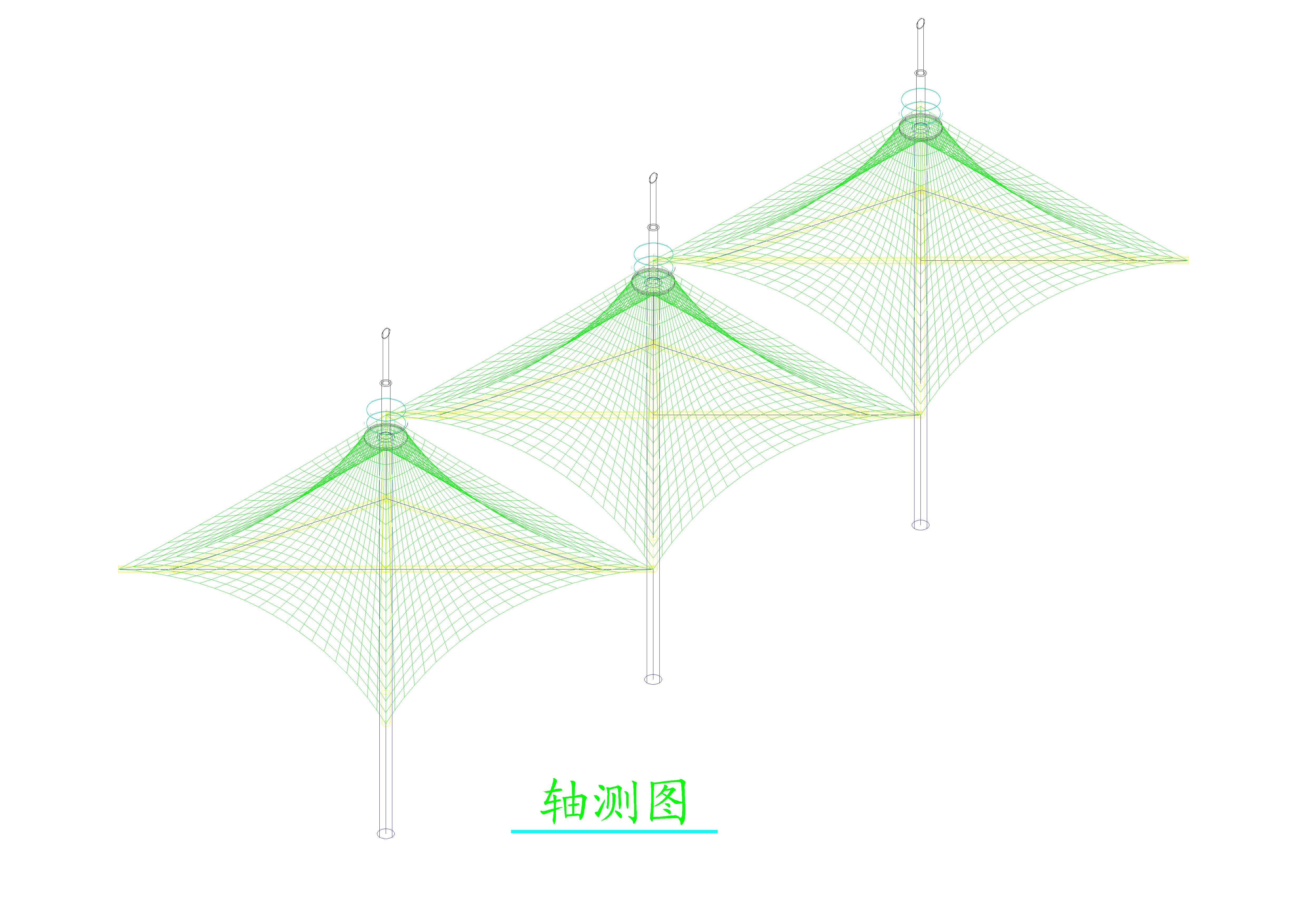 景观膜结构伞产品演示图3