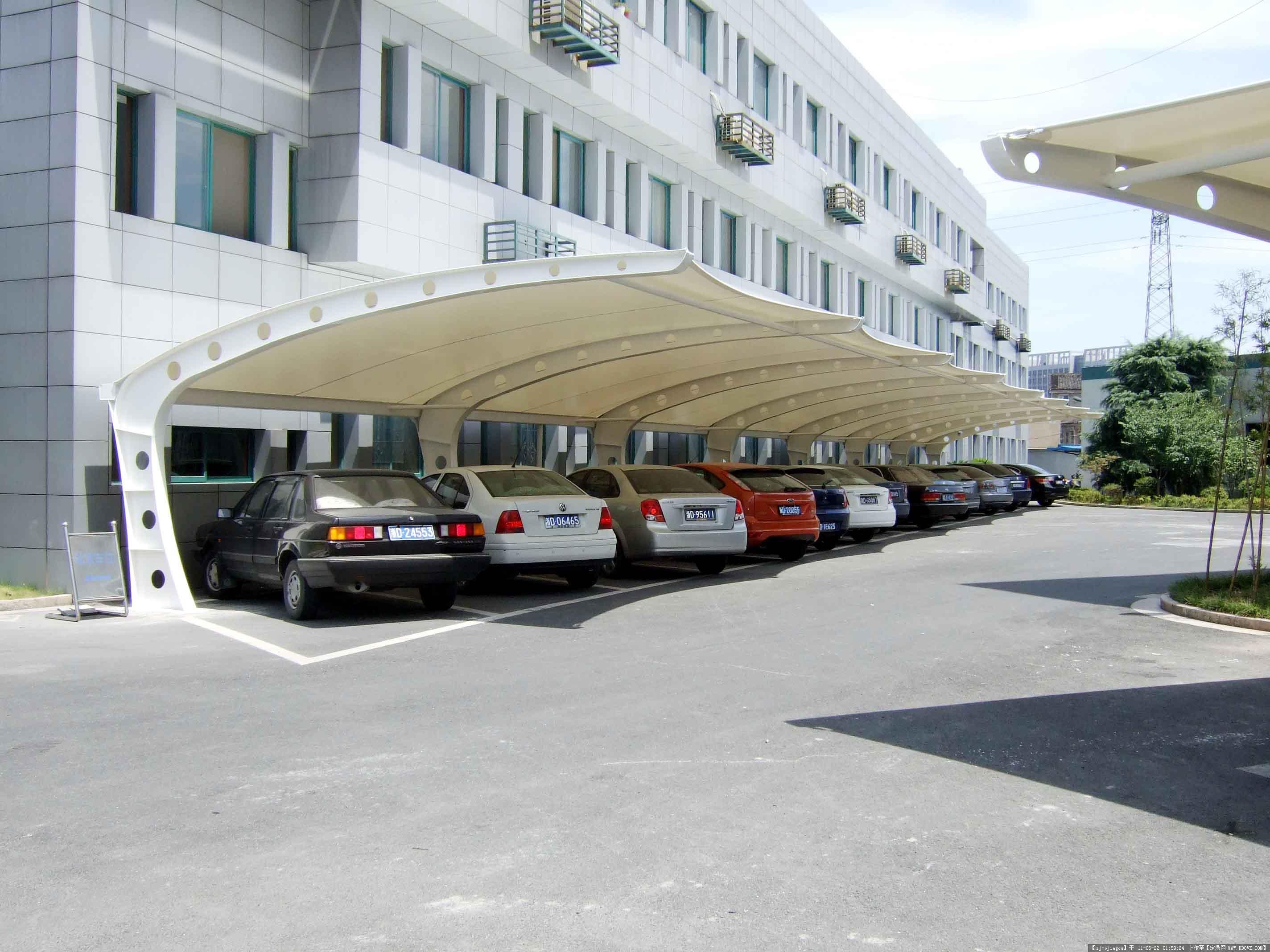 膜结构车棚系列产品演示图2