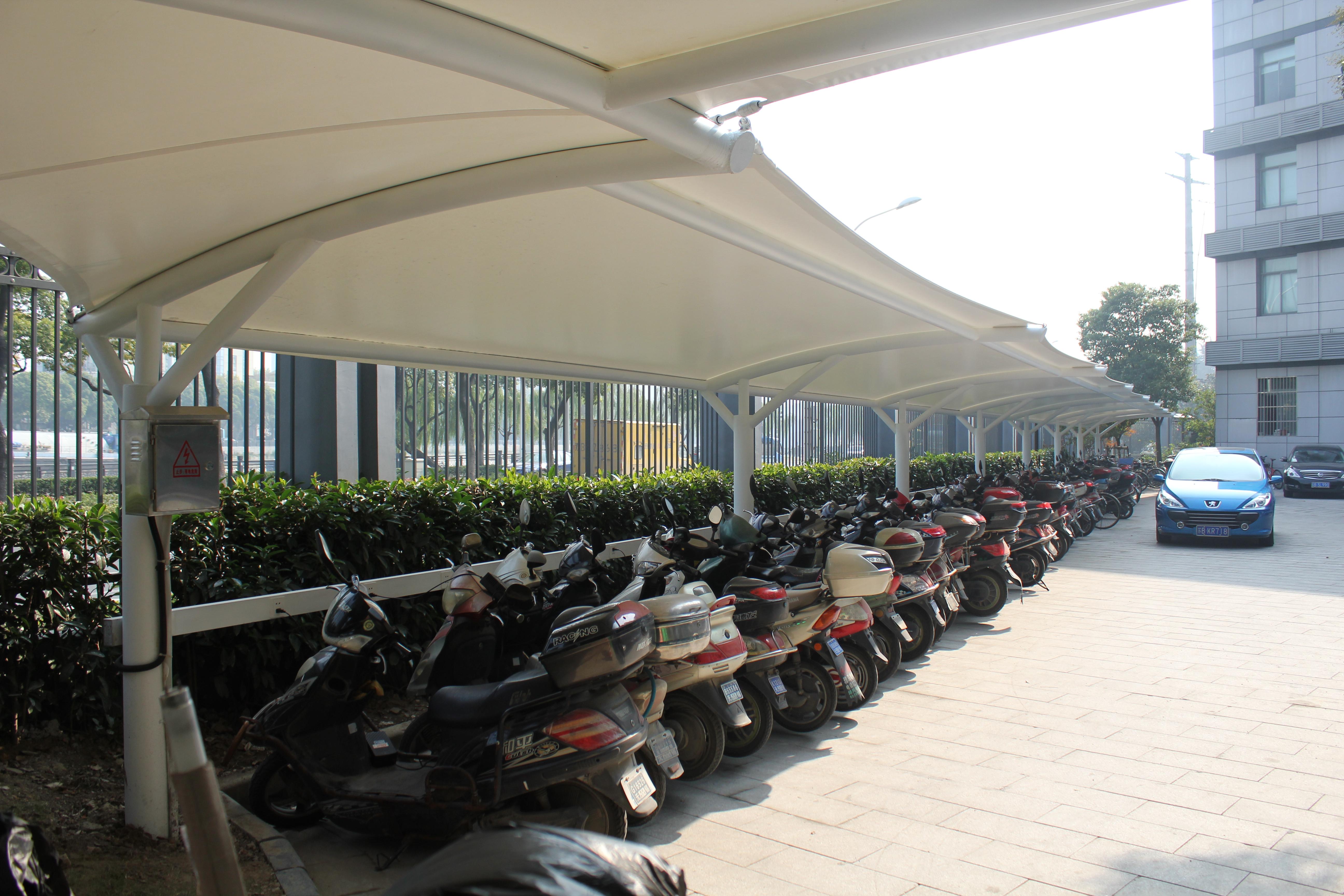 充电自行车棚 自行车棚 车棚产品演示图2