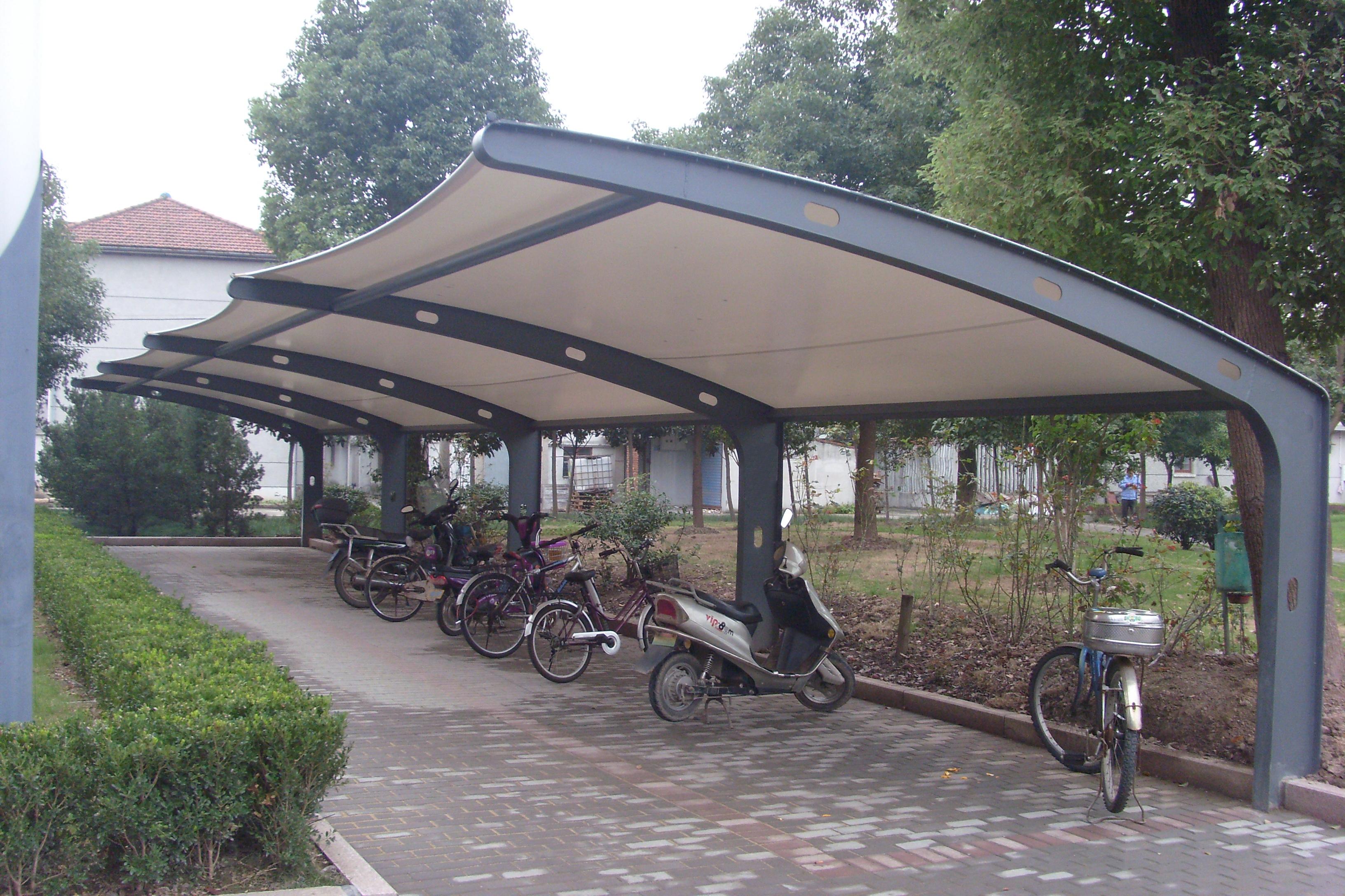 充电自行车棚 自行车棚 车棚产品演示图3