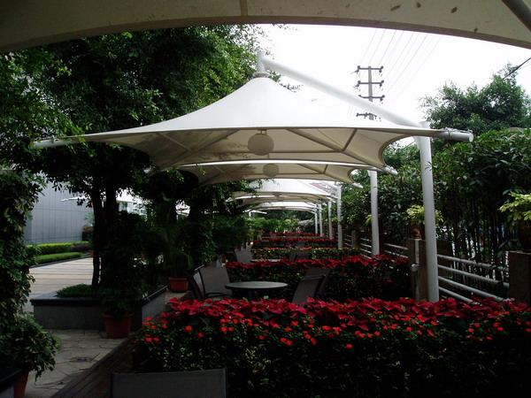 张拉膜结构景观伞