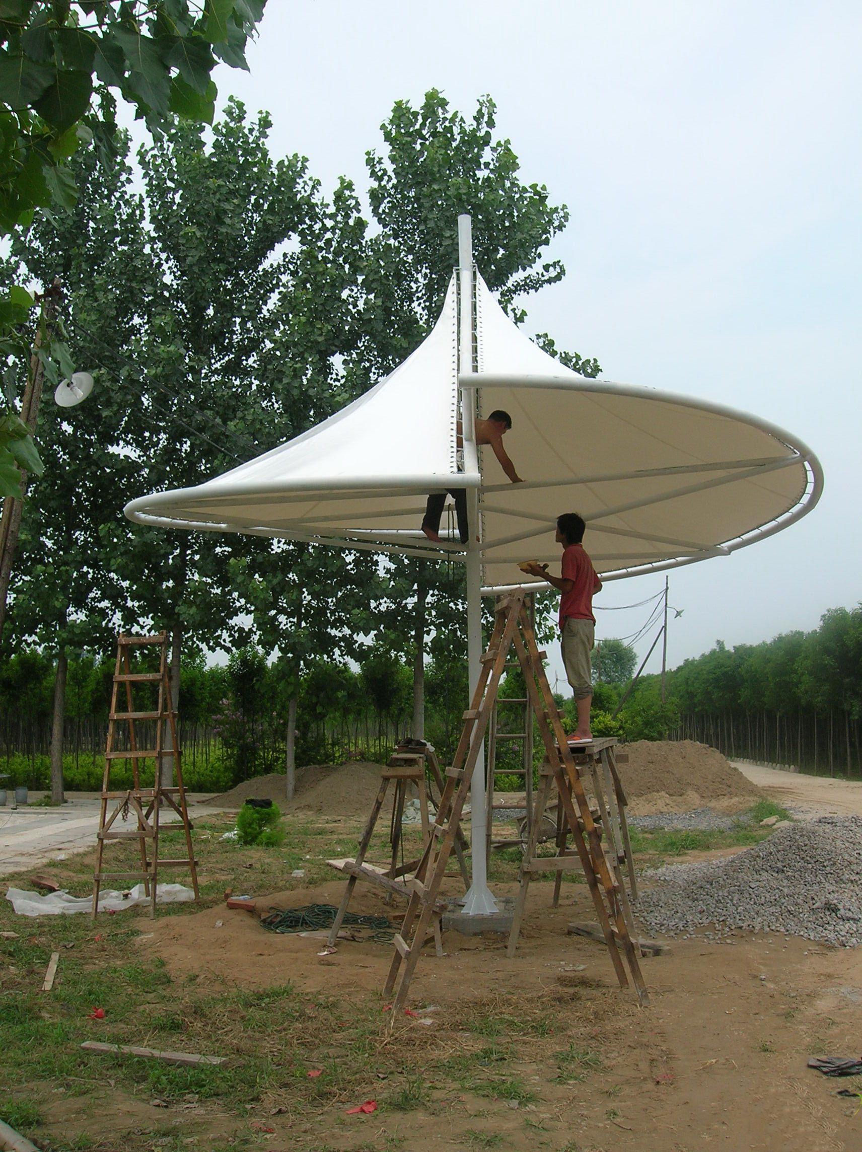 膜结构建筑伞 膜结构建筑遮阳伞 产品演示图1