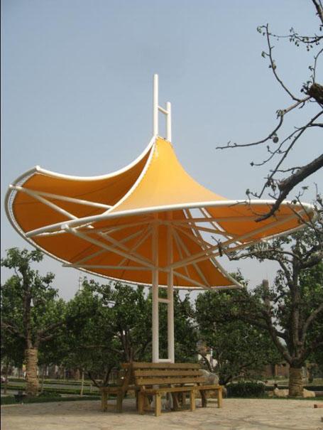 膜结构建筑伞 膜结构建筑遮阳伞 产品演示图3