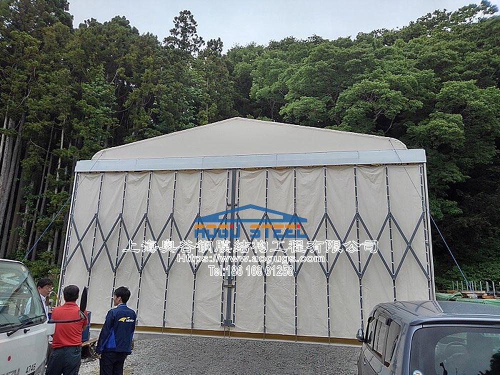 活动推拉篷伸缩折叠式帐篷仓库,专业组膜结构山口工业膜.jpg