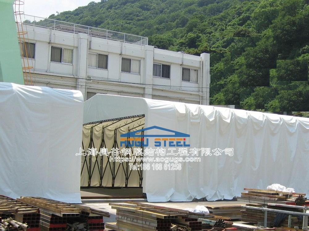 电动仓储雨棚 日本电动仓储帐篷