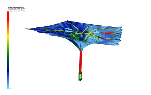 高科技建筑雨伞!全自动化智能操作,超大型电动收缩折叠开合式结构,科技让生活越来越好!产品演示图4