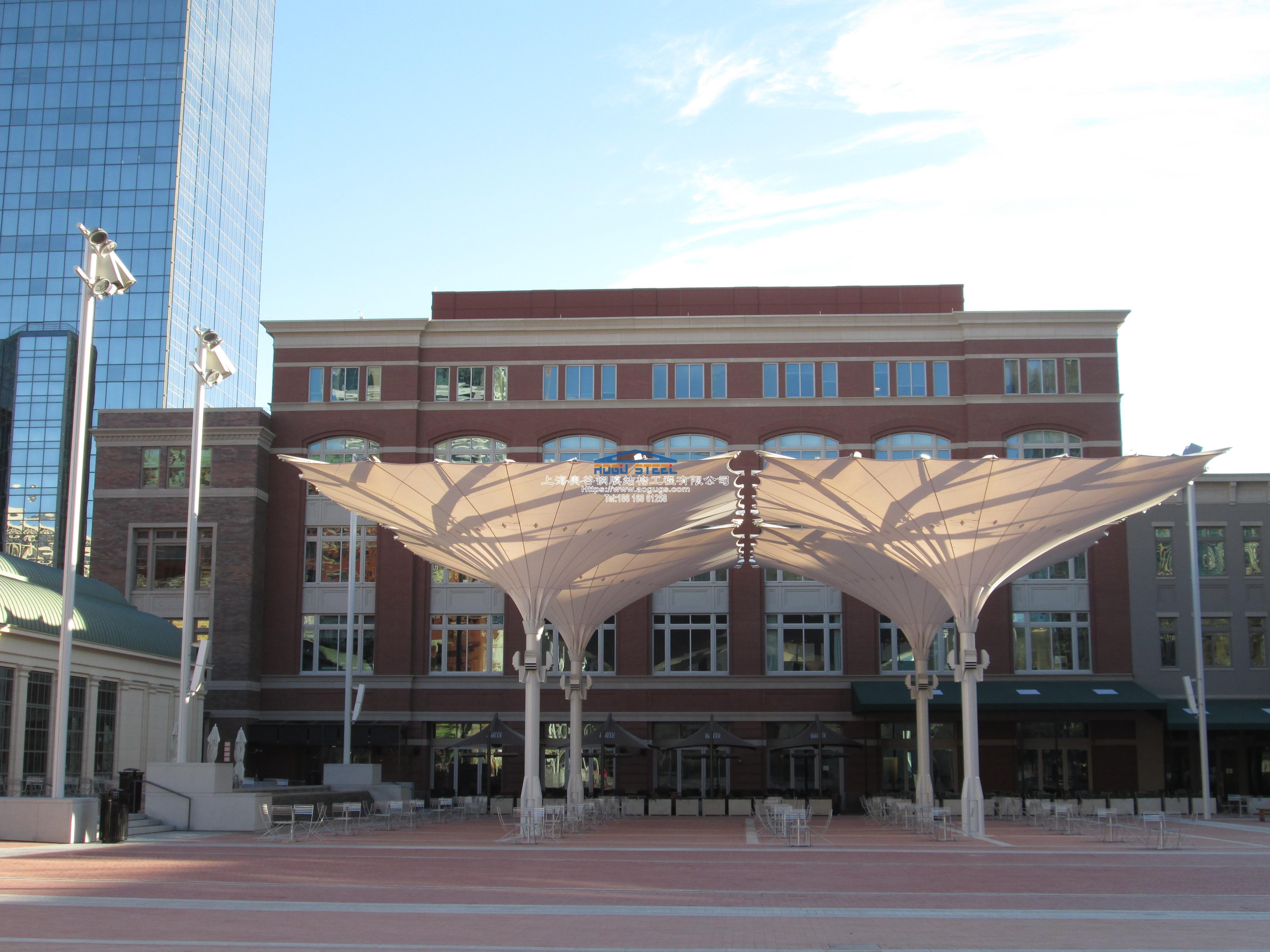 大型伸缩折叠开合式建筑雨伞视频资料