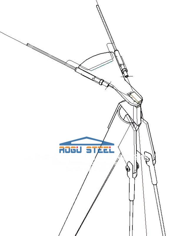 张拉膜工程结构节点设计细节产品演示图3