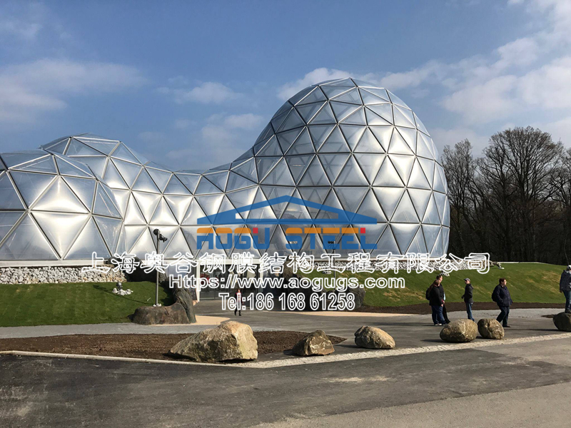国外ETFE透明膜结构工程展示图片