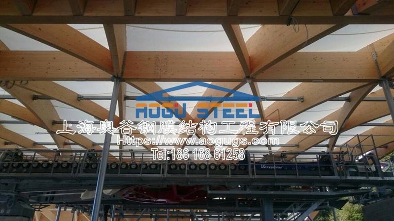 木制张拉膜结构工程项目产品演示图2