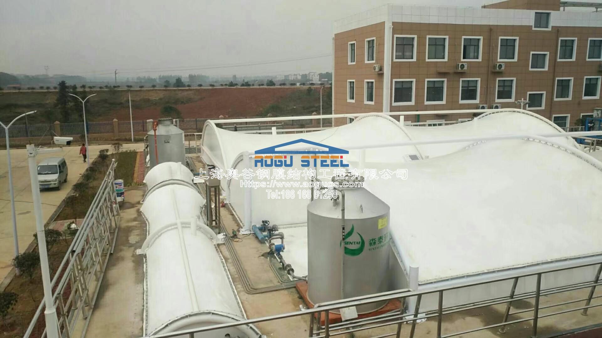 污水厂污水池加盖工程施工现场产品演示图2