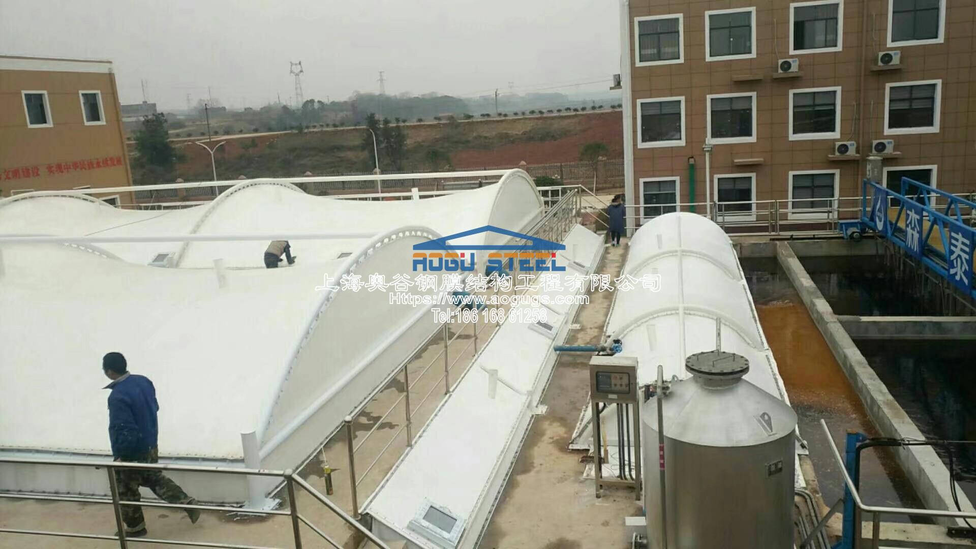 污水厂污水池加盖工程施工现场产品演示图4