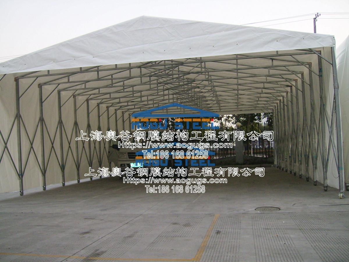 大众汽车厂 伸缩推拉雨篷 施工案例产品演示图1