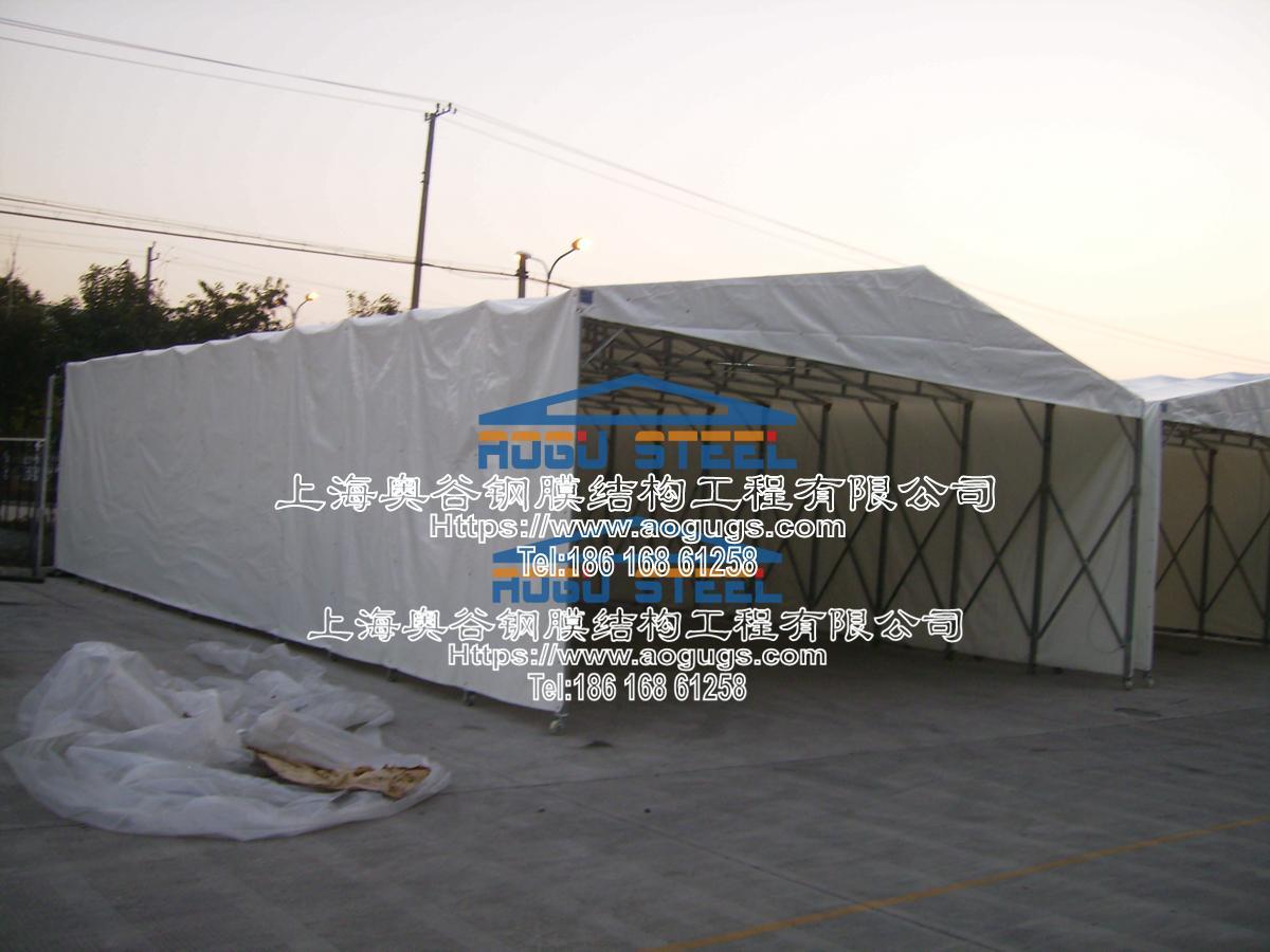 大众汽车厂 伸缩推拉雨篷 施工案例产品演示图2