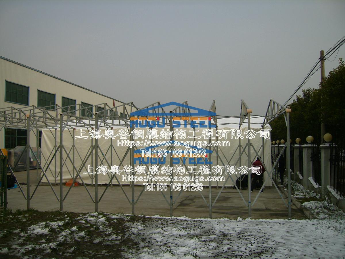 大众汽车厂 伸缩推拉雨篷 施工案例产品演示图4