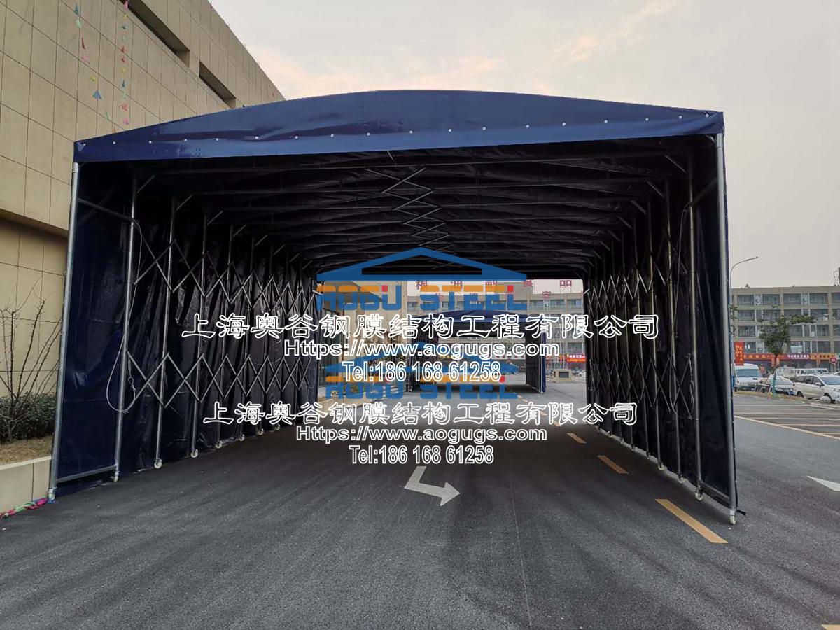 伸缩 活动 折叠 推拉雨篷 结构类型产品演示图1