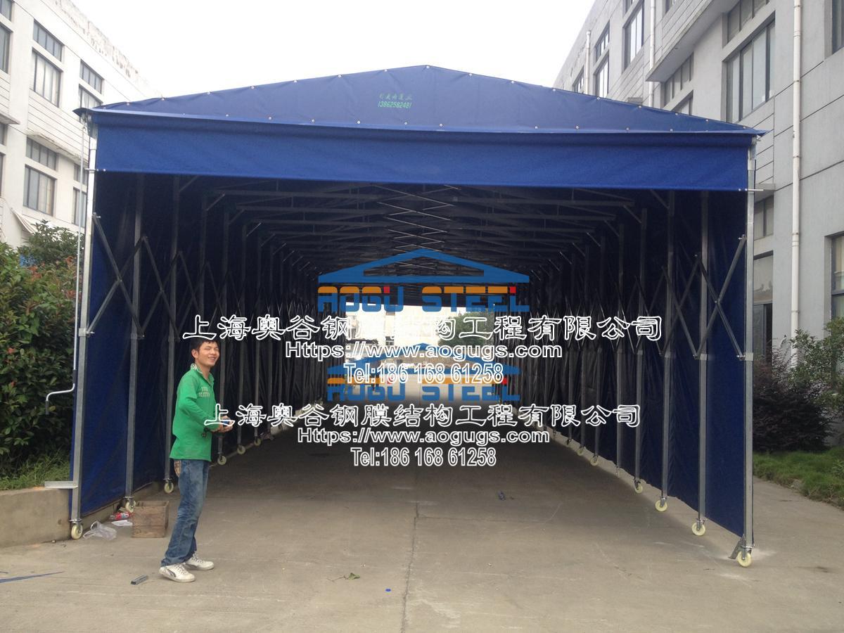 伸缩 活动 折叠 推拉雨篷 结构类型产品演示图3